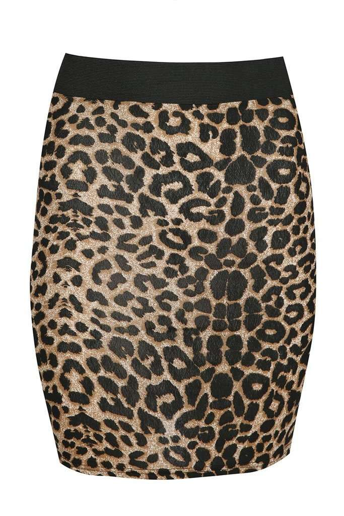 Nat Leopard Print Mini Tube Skirt - bejealous-com