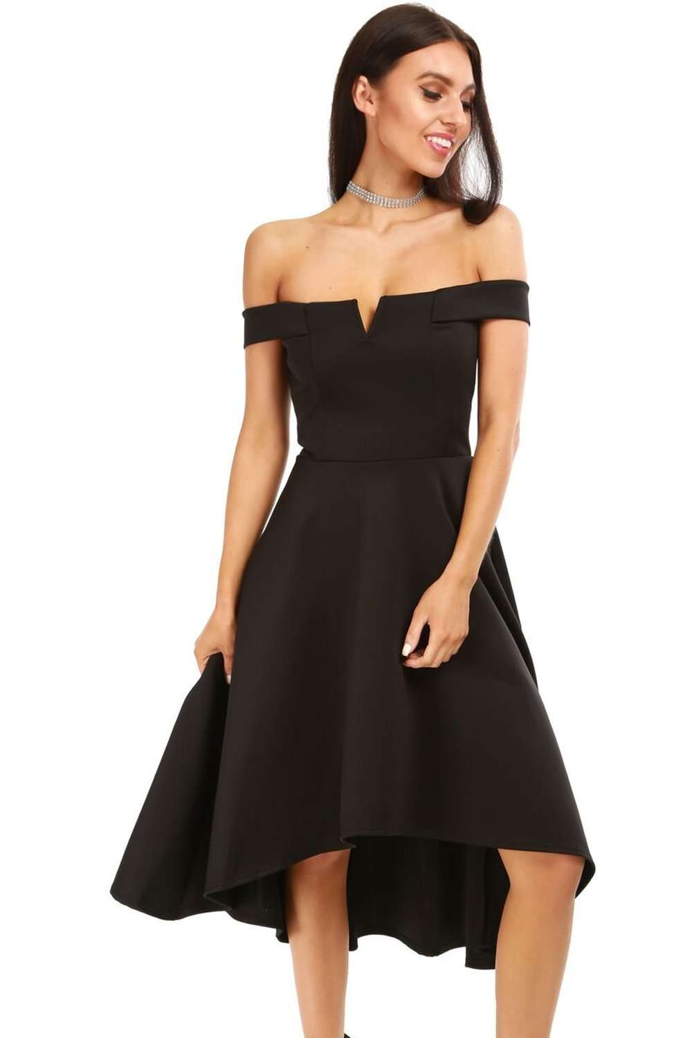 Natalia V Bar Strapless Midi Swing Dress - bejealous-com