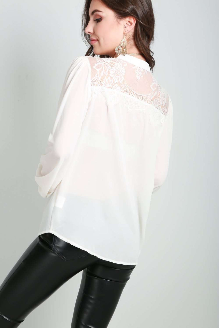 Pammie Button Down Blouse - bejealous-com