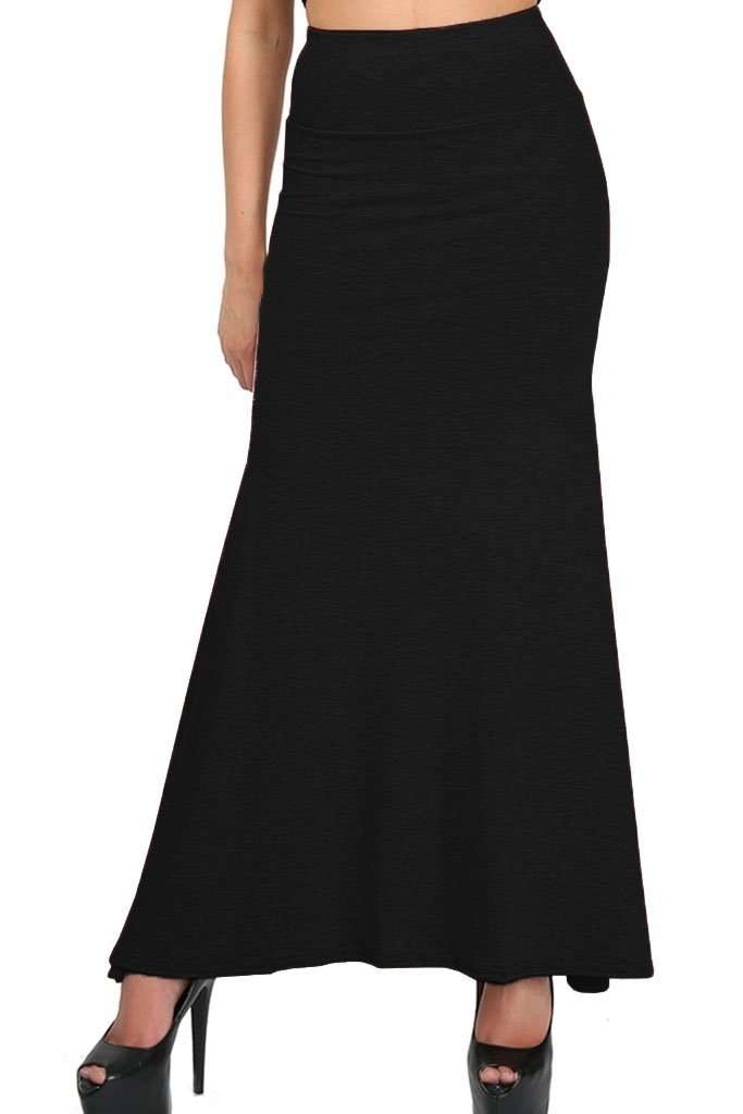 Paris High Waist Floaty Maxi Skirt - bejealous-com