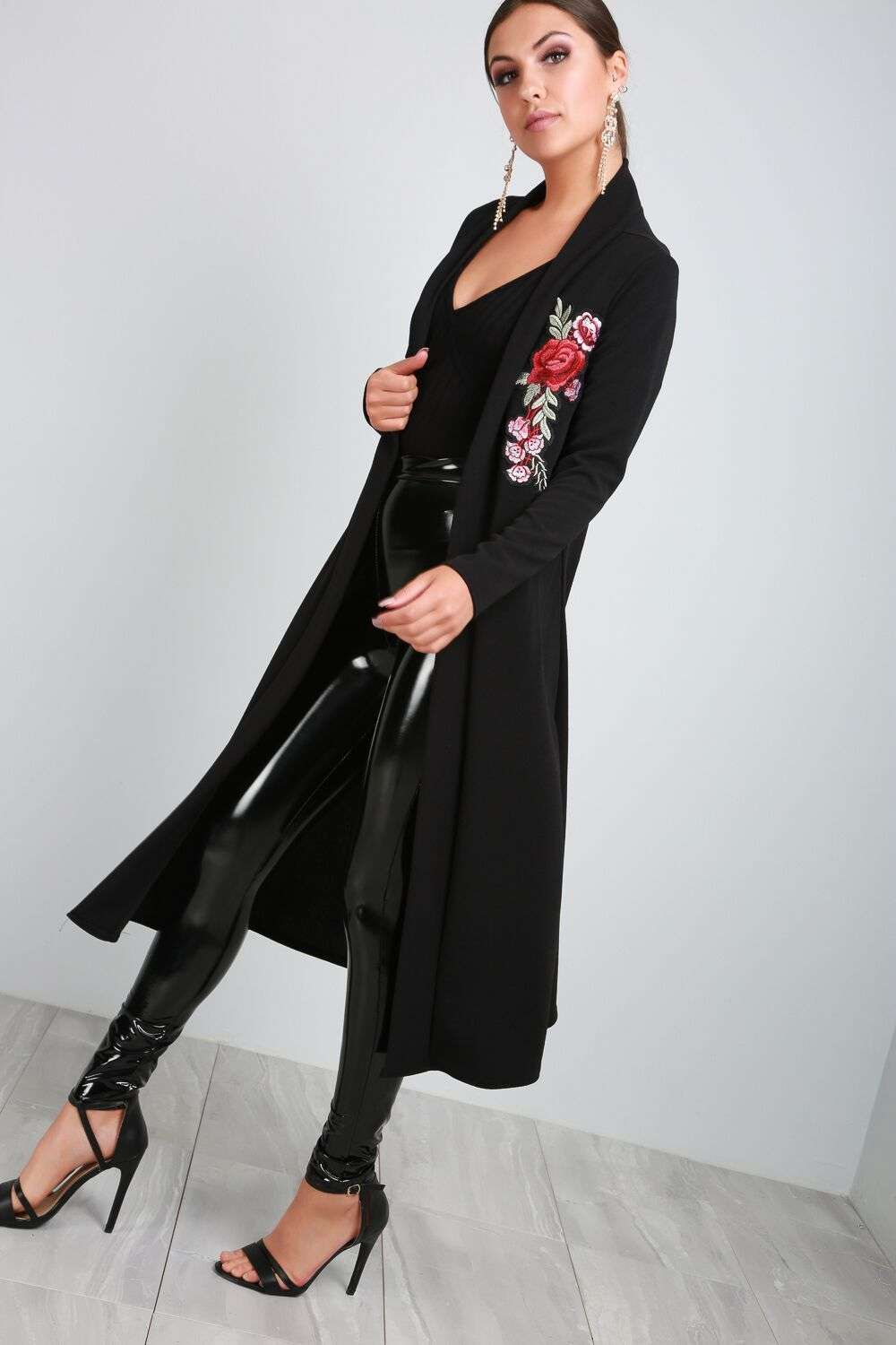 Paris Long Sleeve Floral Embroidered Maxi Cardigan - bejealous-com