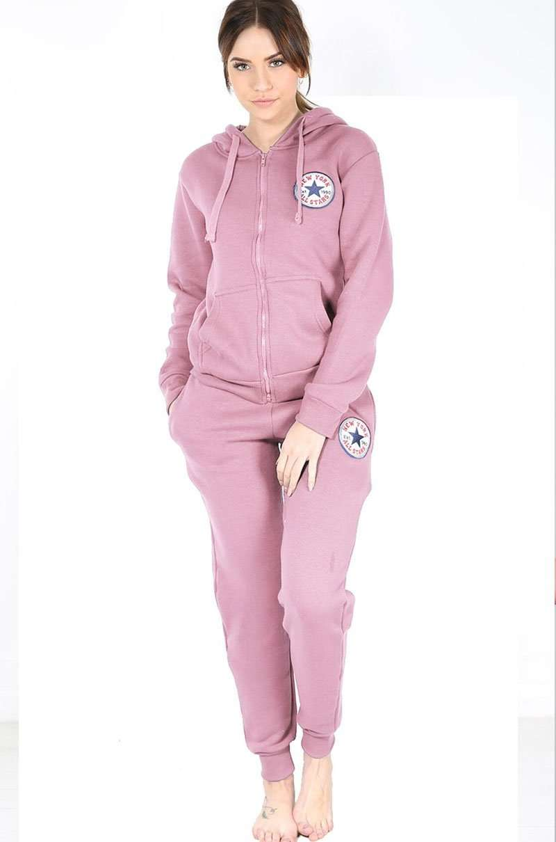 Pink New York All Stars Lounge Wear Coord Set - bejealous-com