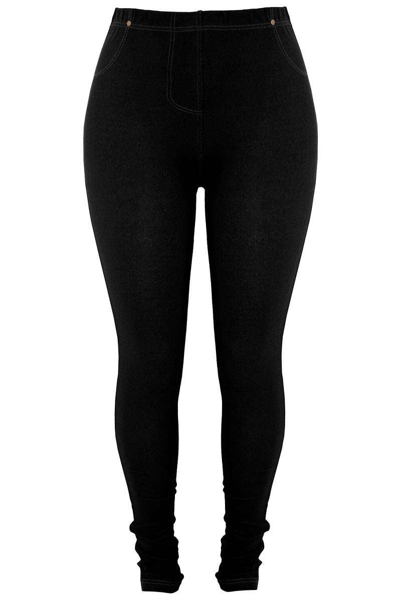 Plus Size Stretch Fit Skinny Jeggings - bejealous-com