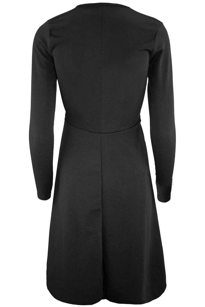 Polly Long Sleeve Flared Midi Skater Dress - bejealous-com