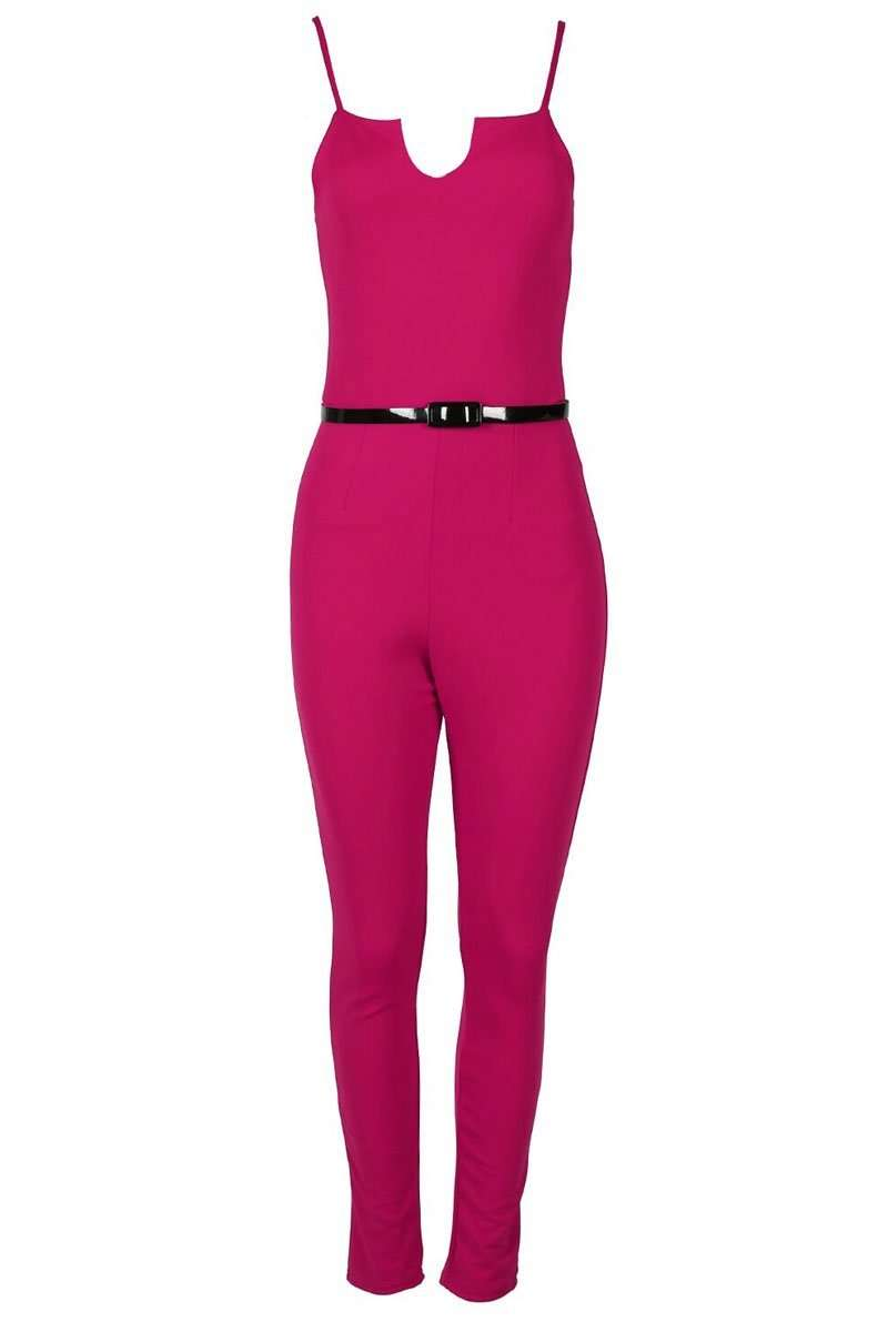 Polly Strappy V Bar Slim Fit Jumpsuit - bejealous-com