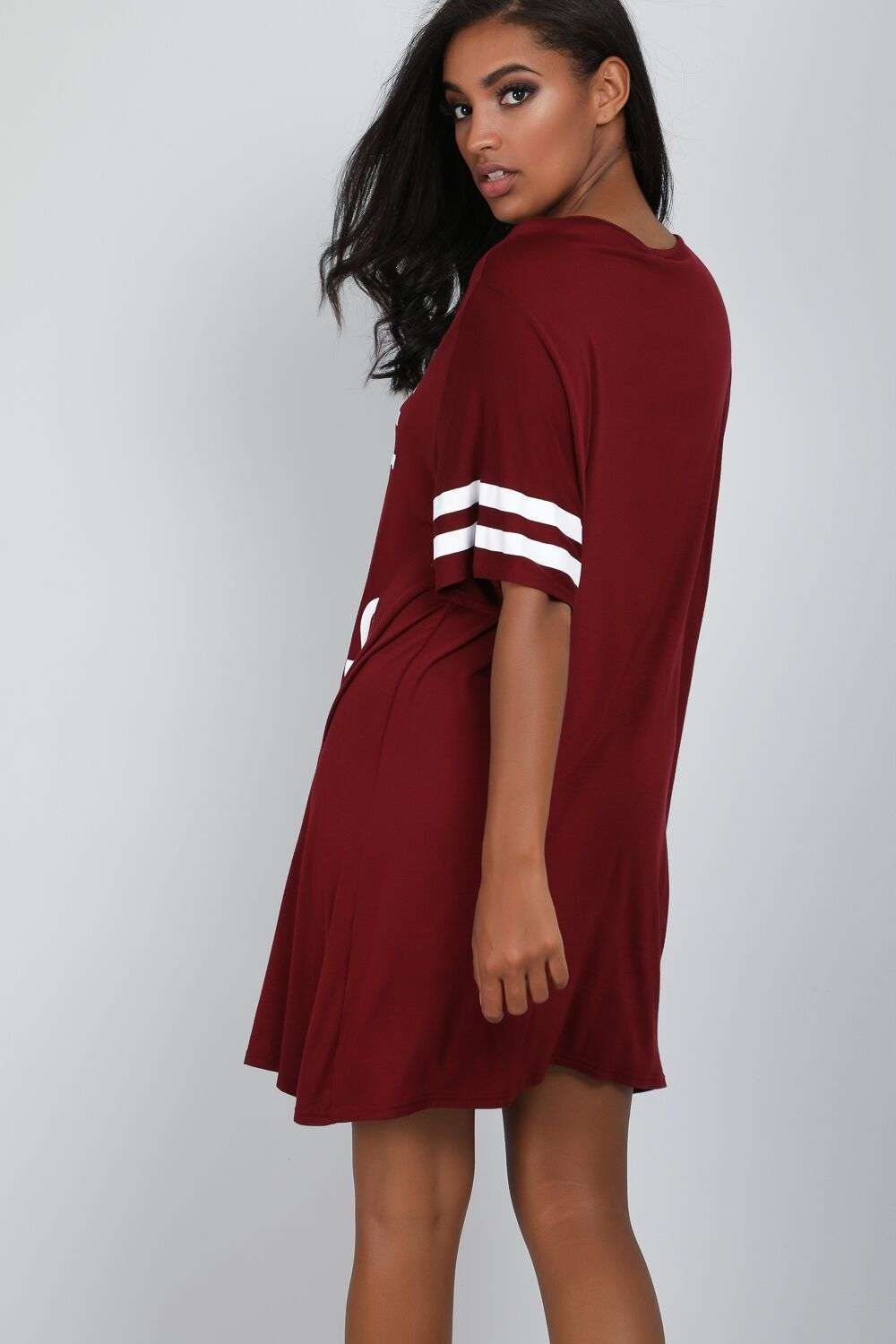 Red I Woke Up Like This Slogan Print Pyjama Dress - bejealous-com