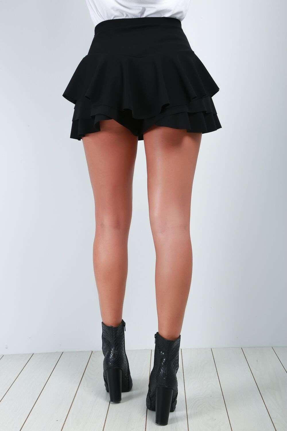 Rose Layered Frill Skort - bejealous-com