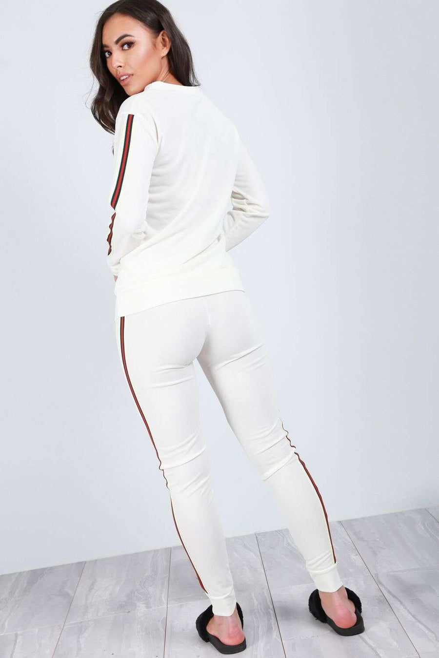 Rosie Side Striped Slim Fit Tracksuit - bejealous-com