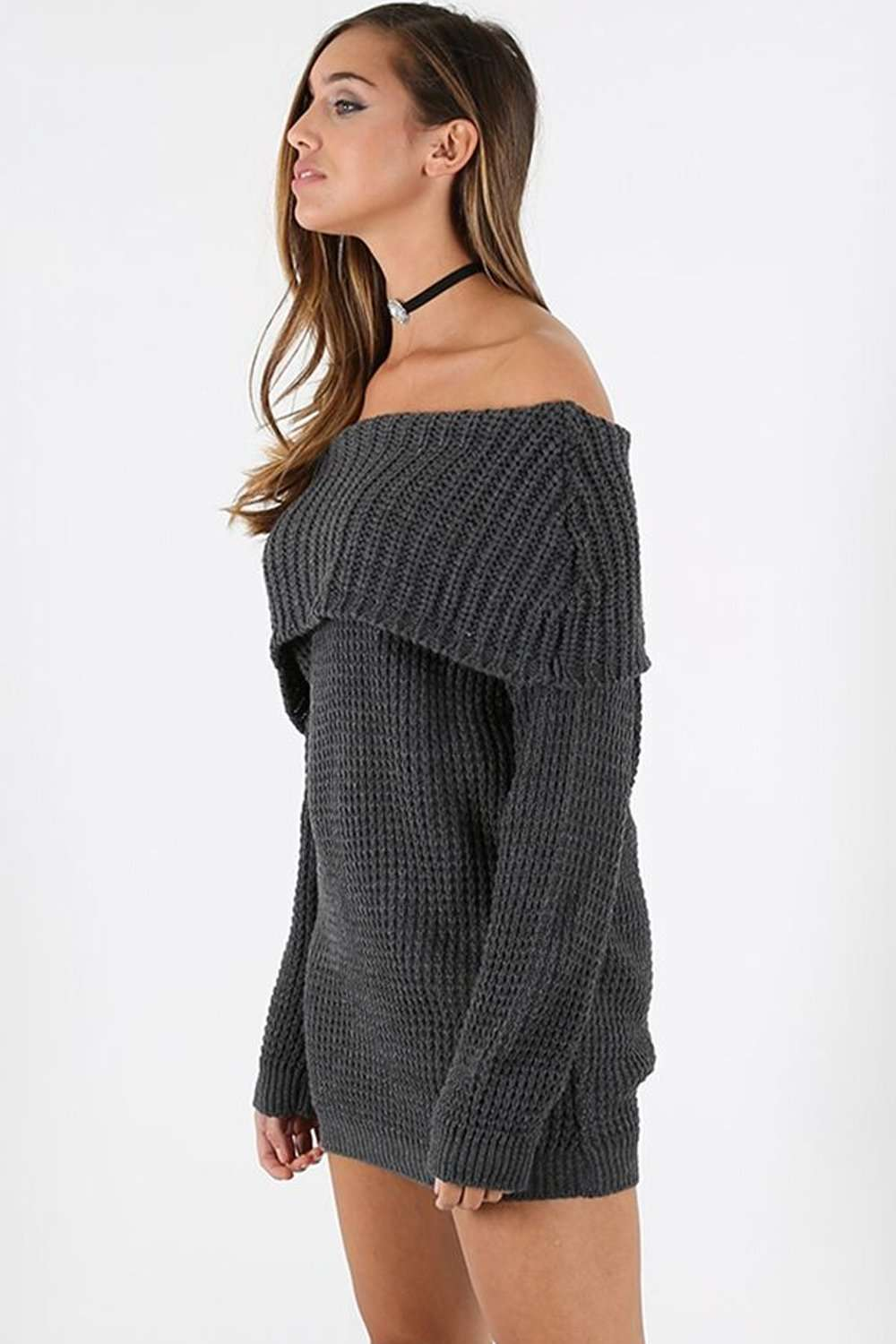 Sallie Off Shoulder Jumper Dress - bejealous-com