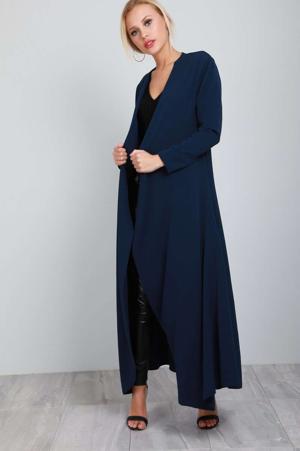 Saskia Long Sleeve Waterfall Maxi Cardigan - bejealous-com