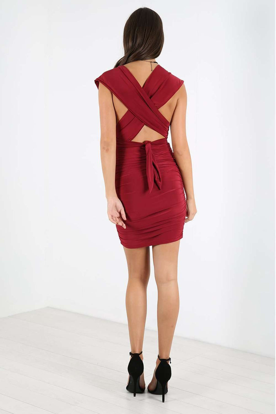 Shyann Multiway Ruched Bodycon Dress - bejealous-com