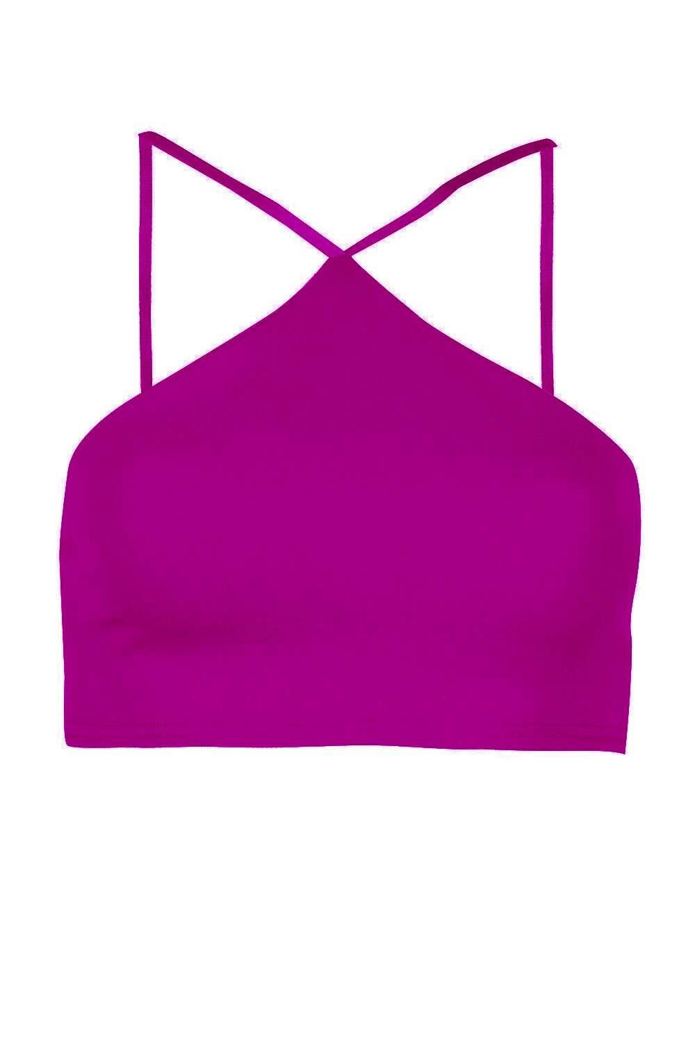 Srappy Racer Back Basic Crop Top - bejealous-com