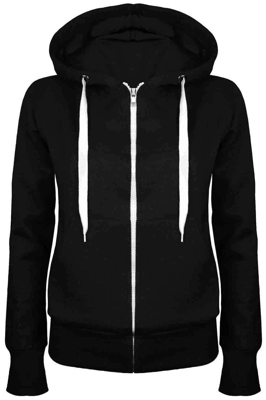Zara Fleece Line Zip Up Hoodie - bejealous-com