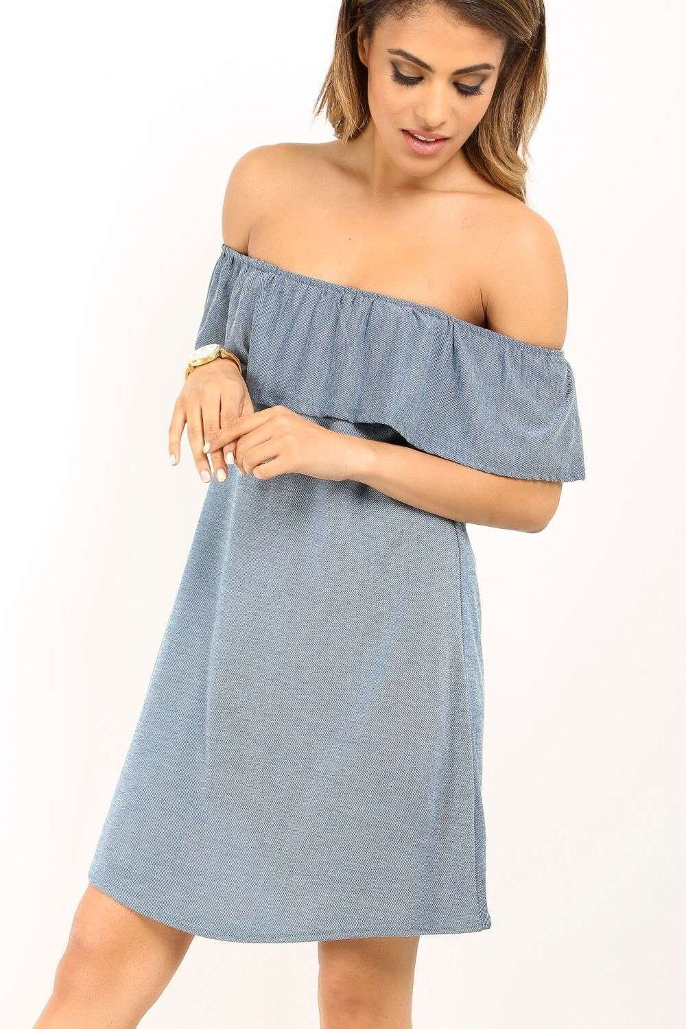 Zara Off Shoulder Frill Dress - bejealous-com