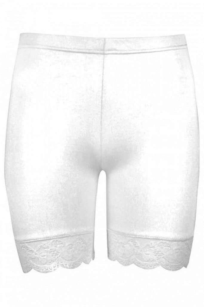 Zoe Lace Trim Basic Jersey Cycling Shorts - bejealous-com