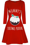 Mummy's Christmas Pudding Maternity Dress