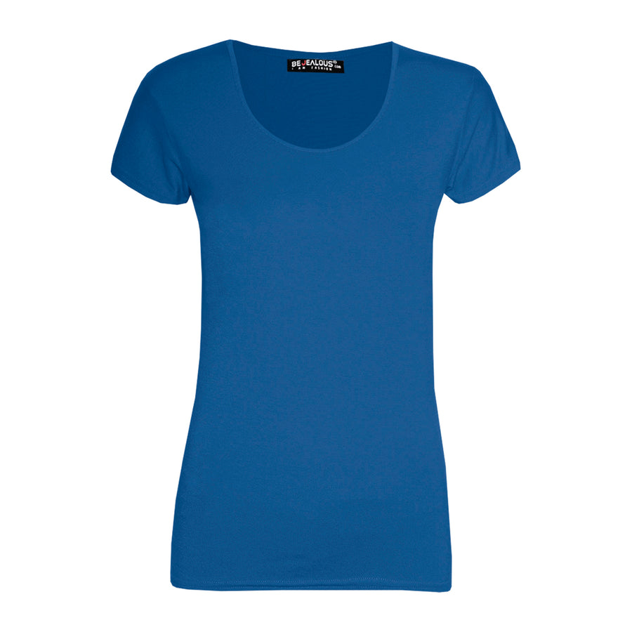 Isla Plain Casual Cap Sleeve T Shirt