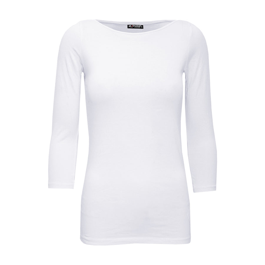 Emily Plain Casual Long Sleeve T Shirt