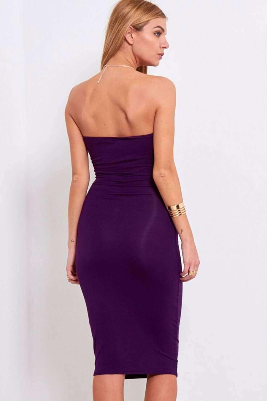 Adelaide Bandeau Strapless Bodycon Dress - bejealous-com