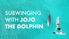 Subwinging with Jojo the dolphin