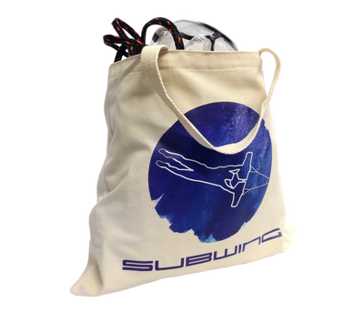 Filled cotton beach bag with Subwing logo