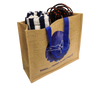 Filled jute beach bag with Subwing logo