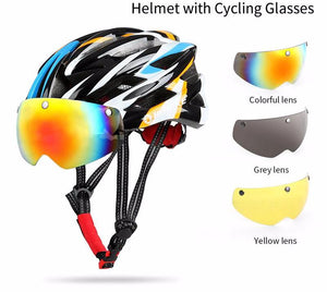 Cycling Helmet Bicycle Helmet with Cycling Glasses Ultralight