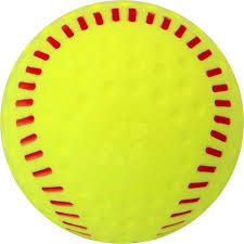 SEAMED PITCHING MACHINE SOFTBALL YELLOW