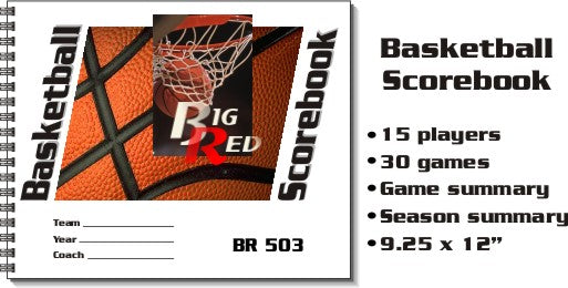 BIG RED BASKETBALL SCOREBOOK