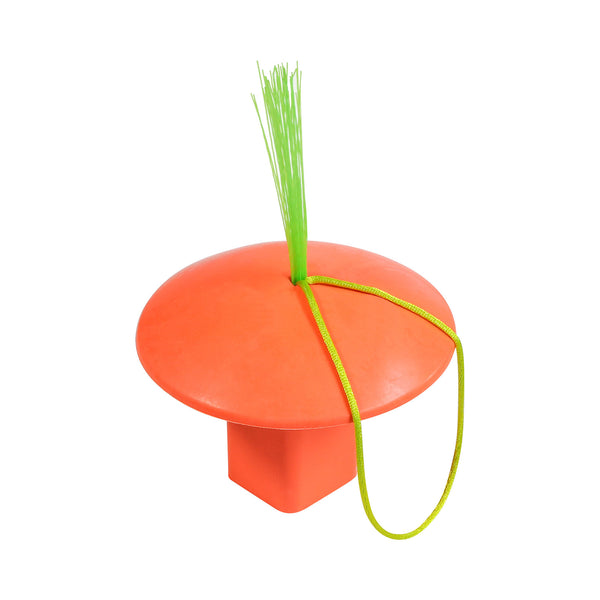 MOLDED RUBBER BASE PLUG WITH TASSEL