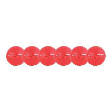 "DODGE BALLS 6""-SET NEON RED"