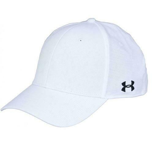 UA REFEREE CAP STRETCH FIT WHITE