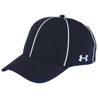 UA OFFICIALS CAP STRETCH FIT BLK/WHT
