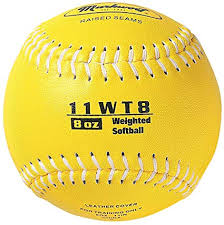 WEIGHTED SOFTBALL 8oz
