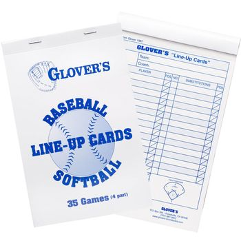 GLOVER LINEUP CARDS 35 GAMES