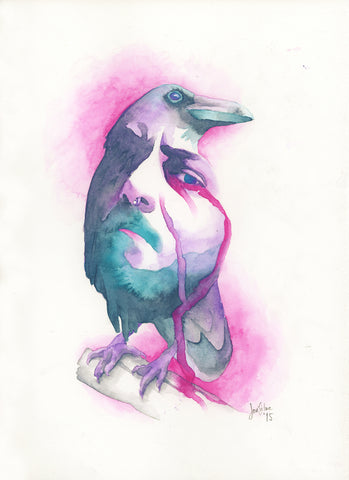 "8x10 ""Crying Crow"" Premium Giclée Print"
