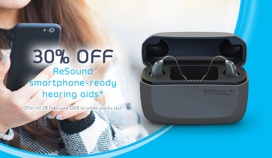 30% off ReSound Smartphone-ready Hearing Aids*