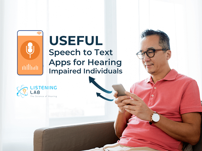 Speech to Text Apps for hearing problem