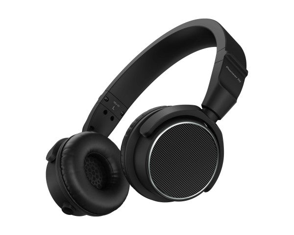 HDJS7 Pro DJ 40mm On-Ear Swivel Lightweight Headphones Black