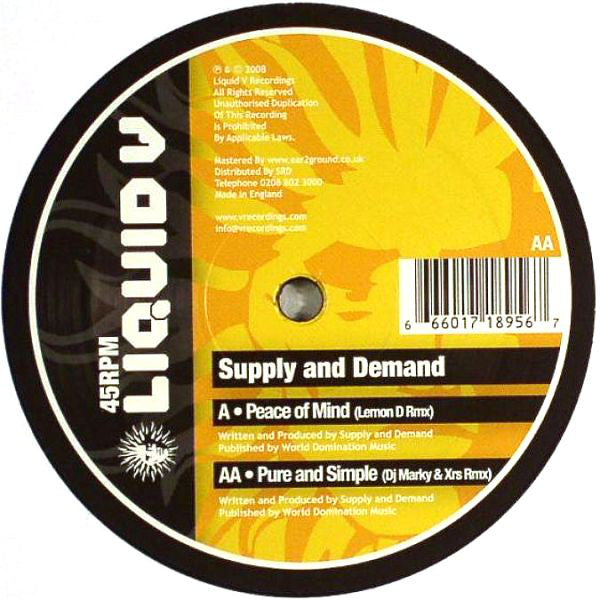 Peace Of Mind (Lemon D Remix) / Pure And Simple (DJ Marky & XRS Remix)