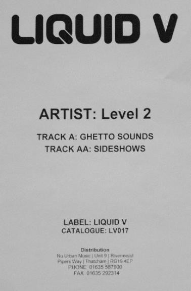 Ghetto Sounds / Sideshows - RARE WHITE LABEL PROMO