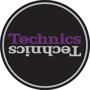 Techincs slipmat-purple and grey logo design