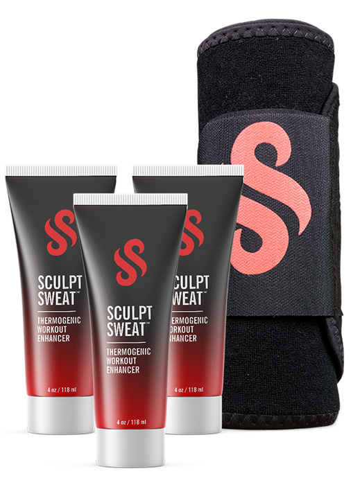 image-main:Mens Sweat Belt + 3 Sculpt Sweat Creams