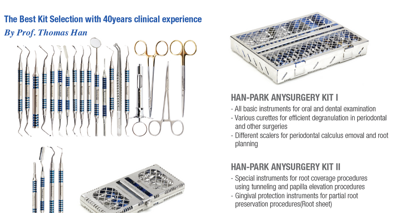 25 AnyOne Xpeed S-L-A Implantaten + Han-Park AnySurgery Kit