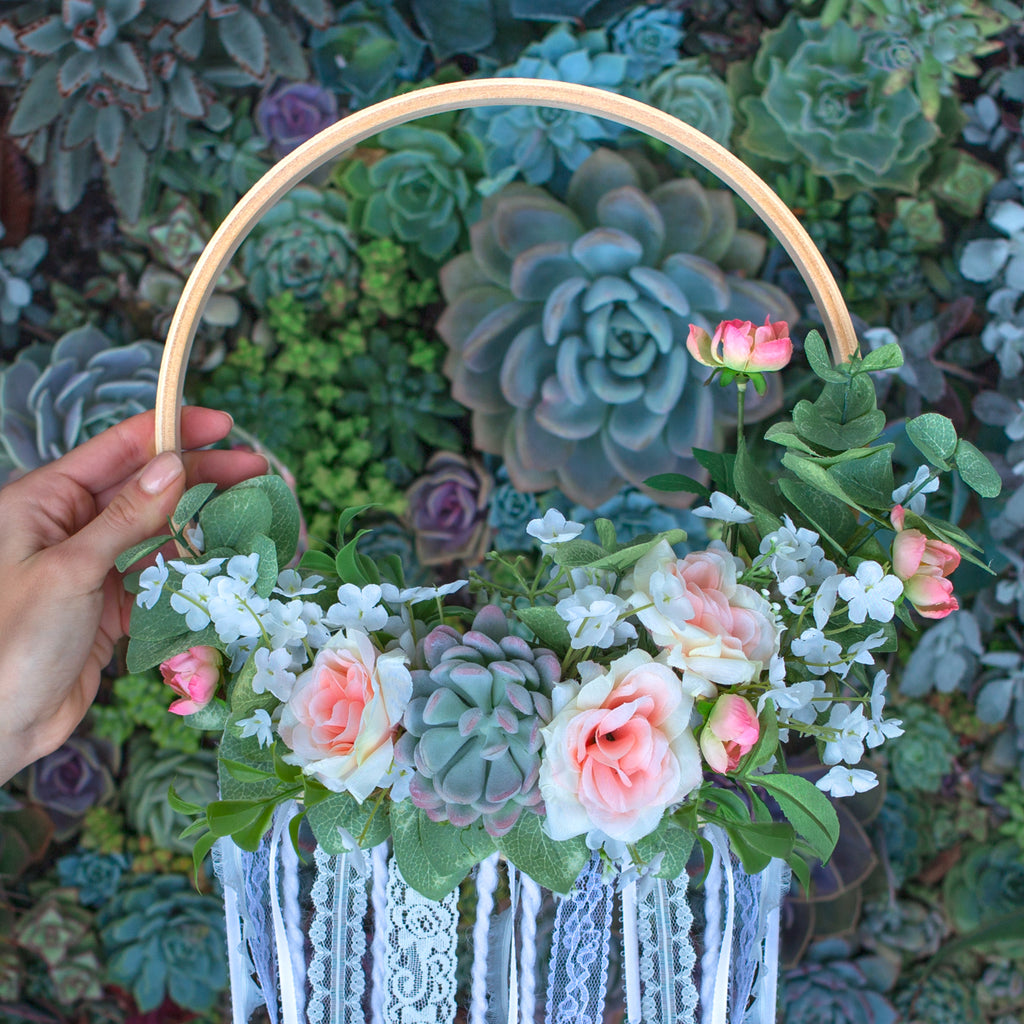 DIY Faux Floral Wreath