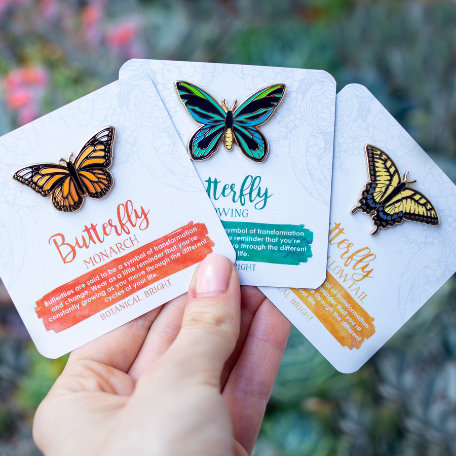 Butterfly Enamel Pin Set