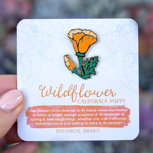 California Poppy Enamel Pin