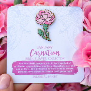 Carnation Enamel Pin
