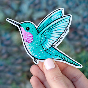 Hummingbird Sticker with Holographic Details