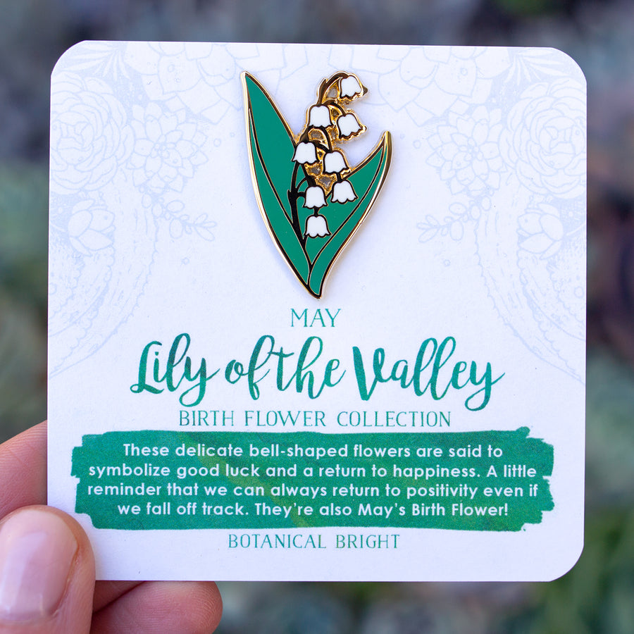 Lily of the Valley Enamel Pin